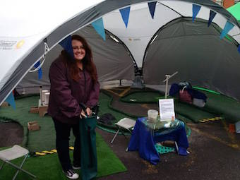 eco crazy golf at blackberry fair