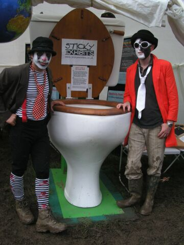 clowns at the wishing bog
