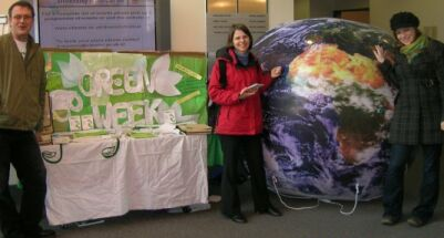Inflatble planet at Go for Green event