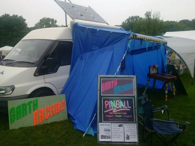 Eco Van and Earth Arcade games at New Mills Carnival