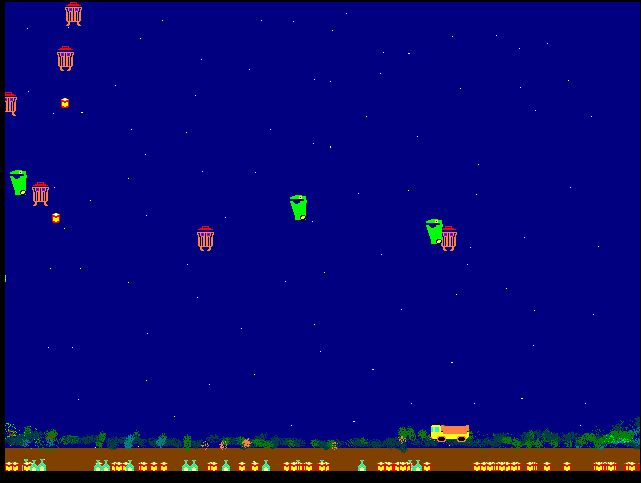 screen shot of waste invaders prototype game