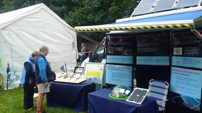 eco van at wirral earth fest
